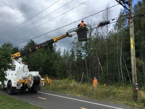 Installation de câbles